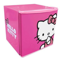Hello Kitty - Hello Kitty 1.7-Cubic Foot Fridge - Pretty in pink, this Hello Kitty compact refrigerator is an adorable way to store beverages and snacks.
