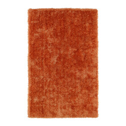 Kaleen - Kaleen Posh Collection Psh01-89 8'X10' Orange - Posh is the perfect rug to make your feet say ooh and ahhh!! Super plush and silky to the touch, this hot new shag rug is exactly what your room has been asking for! Find the perfect spot to curl up on after a long day or bring in your favorite pop of color for a complete room makeover. The Posh collection allows for diversity and fashionable style for all of your decorating needs with over 20 colors to choose from. Each rug is handmade in China of the finest 100% polyester.