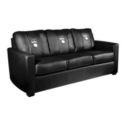 Dreamseat Inc. - Worlds Greatest Golfer Xcalibur Leather Sofa - Check out this incredible Sofa. It's the ultimate in modern styled home leather furniture, and it's one of the coolest things we've ever seen. This is unbelievably comfortable - once you're in it, you won't want to get up. Features a zip-in-zip-out logo panel embroidered with 70,000 stitches. Converts from a solid color to custom-logo furniture in seconds - perfect for a shared or multi-purpose room. Root for several teams? Simply swap the panels out when the seasons change. This is a true statement piece that is perfect for your Man Cave, Game Room, basement or garage.