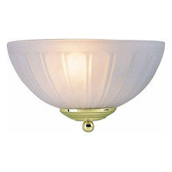 Volume Lighting - Volume Lighting V7621 Wall Sconce with 1 Light and Frosted Glass - Wall Sconce with One Light and Frosted GlassGive your home a radiant new look with this magnificent 1 light wall sconce featuring delicate frosted glass.Features:
