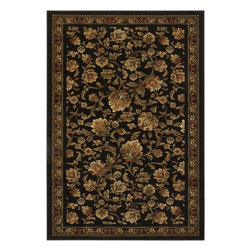 """Surya - Transitional Lenoir 7'9""""x10'6"""" Rectangle Jet Black-Coffee Bean Area Rug - The Lenoir area rug Collection offers an affordable assortment of Transitional stylings. Lenoir features a blend of natural Jet Black-Coffee Bean color. Machine Made of 100% Polypropylene the Lenoir Collection is an intriguing compliment to any decor."""