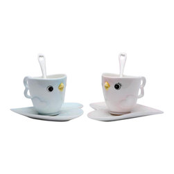 ATD - 3.63 Inch Pale Blue and Pale Pink Bird Teacups, Saucers and Spoons Set - This gorgeous 3.63 Inch Pale Blue and Pale Pink Bird Teacups, Saucers and Spoons Set has the finest details and highest quality you will find anywhere! 3.63 Inch Pale Blue and Pale Pink Bird Teacups, Saucers and Spoons Set is truly remarkable.