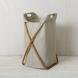 Bamboo Laundry Hamper, Single - I've always been attracted to wood and linen hampers, and this one is no exception. It's beautifully designed and won't stick out like a sore thumb in the bathroom.