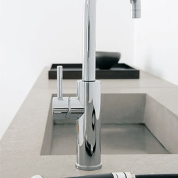 MaestroBath - Modern Design Elegant Kitchen Faucet   Side Sprayer Extention - This modern single handle kitchen faucet with side pull out mono shower is elegant and practical. The high end Italian faucet can accommodate any type of kitchen sink. The contemporary faucet is easy to install, keep clean and maintain. Modern chrome faucet is also available in brushed nickel finish. Whether your decorating style is traditional or modern, Maestrobath products will compliment your home improvement project and add a lavish, luxurious feel while protecting your health, safety and the environment. Here is more information related to MaestroBath: Services Provided: Luxury Handmade Italian Vessel Sinks, Modern and Contemporary Kitchen and Bath Fixtures .. Areas Served: All United States and International Countries… Business Description: Maestrobath delivers contemporary and modern handmade Italian bathroom sinks and designer faucets to clients with taste of luxury. It carries a wide selection of beautiful and unique Travertine, Crystal and Glass vessel sinks in variety of colors and styles. Maestrobath services homeowners and designers Globally. Furthermore, it has dealer partners across United States and international countries.