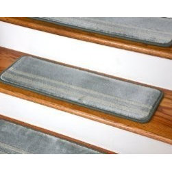 "Dean Flooring Company - Dean Premium Carpet Stair Treads - Seafoam Green 27"" x 9"" Set of 13 - Dean Premium Carpet Stair Treads - Seafoam Green 27"" x 9"" Set of 13 : Premium Carpet Stair Treads by Dean Flooring Company. Set of 13. Each tread measures approximately 27"" x 9"". Helps prevent slips on your hardwood stairs. Protects your hardwood from excessive wear and tear. Made from luxurious premium plush carpeting. Easy DIY installation with double-sided carpet tape (not included)."