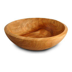 Enrico - Enrico Small Turned Root Wood Bowl, Decorative Grade - -Made from environmentally-friendly reclaimed fir stumps with an easy care food-safe lacquer finish