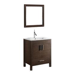 Adornus - Adornus TRENTO-24-WAL-C Walnut Vanity - * Free standing all wood vanity