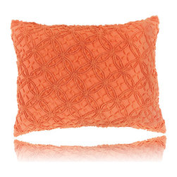 Pine Cone Hill - candlewick paprika pillow (28x37) - Constructed using a classic stitching technique, the candlewick bedding basics from Pine Cone Hill offer an intriguing texture over soft 100% cotton. Mix & match from 12 rich colors for the perfect demure accent or bold centerpiece to a cozy, vintage-inspired bedroom.