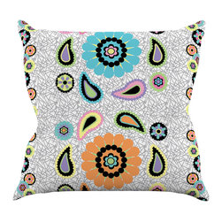 """Kess InHouse - Nina May """"Moda Paisley"""" Paisley Flower Throw Pillow (18"""" x 18"""") - Rest among the art you love. Transform your hang out room into a hip gallery, that's also comfortable. With this pillow you can create an environment that reflects your unique style. It's amazing what a throw pillow can do to complete a room. (Kess InHouse is not responsible for pillow fighting that may occur as the result of creative stimulation)."""
