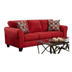 Chelsea Home Furniture - Chelsea Home Lehigh Sofa in Patriot Red - Lehigh sofa in Patriot Red belongs to the Chelsea Home Furniture collection .