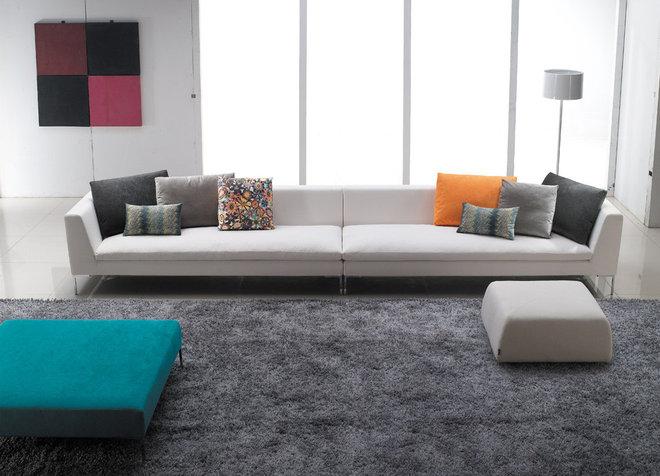 Modern Upholstery Fabric by GingerLi Interior