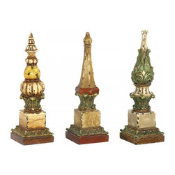 Joshua Marshal - Set/3 Sphere Tip Finials - Set/3 Sphere Tip Finials