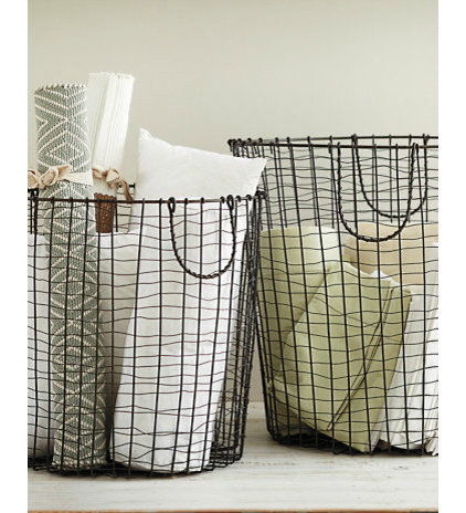 modern baskets by Garnet Hill