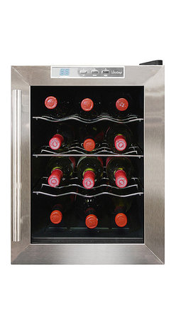 Vinotemp - Vinotemp 12 Bottle Thermoelectric Wine Cooler - Your fridge is for food — but your great wines deserve this high-tech cooler. You'll enjoy having 12 bottles on hand, chilled to perfection with no unnecessary vibration to disturb your valuable vintages.
