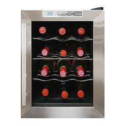 Vinotemp - Vinotemp 12-Bottle Thermoelectric Wine Cooler - Your fridge is for food — but your great wines deserve this high-tech cooler. You'll enjoy having 12 bottles on hand, chilled to perfection with no unnecessary vibration to disturb your valuable vintages.