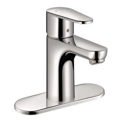 "Hansgrohe - Hansgrohe 31612001 Chrome Talis E Talis E Bathroom Faucet Single Hole - Features:  All brass faucet body and handle construction Fully covered under Hansgrohe s limited lifetime warranty Hansgrohe faucets are designed and engineered in Germany Superior finishing process - finishes will resist corrosion and tarnishing through everyday use Single lever handle operation ADA compliant- complies with the standards set forth by the Americans with Disabilities Act for bathroom faucets Low lead compliant- meeting federal and state regulations for lead content WaterSense Certified product- using at least 30% less water than standard 2.2 GPM faucets, while still meeting strict performance guide lines. Designed for use with standard U.S. plumbing connections All hardware needed for mounting is included with faucet Includes metal pop-up drain assembly  Specifications:  Overall Height: 5-1/2"" (measured from counter top to the highest part of the faucet) Spout Height: 3"" (measured from counter top to the spout outlet) Spout Reach: 4"" (measured from the center of the faucet base to the center of spout outlet) Mounting Type: Single hole Number of Holes Required for Installation: 1 Faucet Centers (Distance Between Handle Installation Holes): Single Hole Flow Rate: 1.5 GPM (gallons-per-minute) Maximum Deck Thickness: 1-5/8"" Metal lever handle included with faucet  About Hansgrohe:  Founded in Germany's Black Forest back in 1901, Hansgrohe is committed to building a strong sense of tradition. Featuring unsurpassed quality, design and performance, Hansgrohe's products offer a lifetime of satisfaction. Through many breakthroughs in comfort and technology, they bring the perfect solution you need to make the most of your water experience. With a sharp"