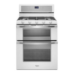"""Whirlpool - WGG755S0BH 30"""" 6.0 cu. ft. Capacity Freestanding Double Oven Gas Range with Time - Cook multiple dishes for a large family meal or prepare treats for a bake sale with a double oven gas range that offers the capacity and features you need to perfect your favorite recipes The WhirlpoolWGG755S0B 60 total cu ft model features Power bur..."""