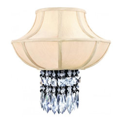 """Corbett Lighting - Corbett Lighting 70-12 Crystal 2 Light Wall SconceCascade Collection - 13"""" W x 14"""" H x 6.5"""" EXT"""