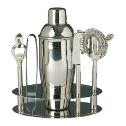 Franmara - Cocktail Shaker, Knife, Tongs, Strainer, Bottle Cap and Stand Bar Set - This gorgeous Cocktail Shaker, Knife, Tongs, Strainer, Bottle Cap and Stand Bar Set has the finest details and highest quality you will find anywhere! Cocktail Shaker, Knife, Tongs, Strainer, Bottle Cap and Stand Bar Set is truly remarkable.