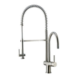 Vigo Industries - Kitchen Faucet with Single Hole Installation - Includes mounting hardware and hot cold waterlines.