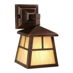 Vaxcel Lighting - Vaxcel Lighting OW37263 Mission 1 Light Outdoor Wall Sconce - Features: