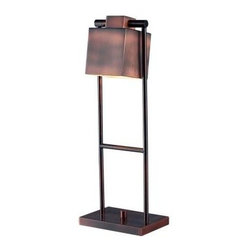Kenroy Home - Desk Lamps: Crimmins 20 in. Copper Desk Lamp 32000VC - Shop for Lighting & Fans at The Home Depot. A ladder-like base is easily adjusted to get the best results from Crimes squared shade. The rich Vintage Copper finish beautifully captures the light. The swivel feature makes the Cramming lamp perfect for any desk or reading chair.