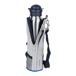 BergHOFF - Stainless Steel 4-in-1 Sports Flask - Whether you're going to work or taking a weekend jaunt,this flask is perfect for any beverageThermos keeps hot drinks hot and cool drinks coolerKitchen storage is constructed of sleek 18/10 stainless steel