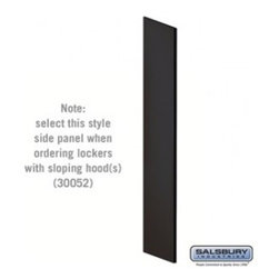 Salsbury Industries - Side Panel - for Open Access Designer Locker and Designer Gear Locker - Black - Side Panel - for Open Access Designer Locker and Designer Gear Locker - 24 Inches Deep - with Sloping Hood - Black