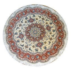 Taghizadeh Design Round Tabriz Persian Rug 5'x5' - Brand New