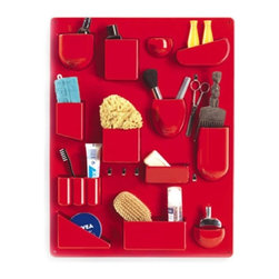 UtenSilo - hivemodern.com - Designed by Dorothee Maurer-Becker in 1969, the Utensilo has been keeping things organized not only in home offices, but also in bathrooms and kitchens and wherever else you need to sort items and have them within reach.