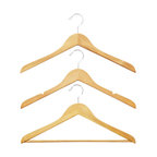 Basic Natural Wood Hangers, Set of 6 - Even things as simple as hangers should still look nice. I can't help it, but I much prefer wooden hangers to plastic ones.
