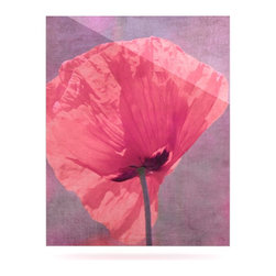 "Kess InHouse - Iris Lehnhardt ""Poppy"" Pink Flower Metal Luxe Panel (16"" x 20"") - Our luxe KESS InHouse art panels are the perfect addition to your super fab living room, dining room, bedroom or bathroom. Heck, we have customers that have them in their sunrooms. These items are the art equivalent to flat screens. They offer a bright splash of color in a sleek and elegant way. They are available in square and rectangle sizes. Comes with a shadow mount for an even sleeker finish. By infusing the dyes of the artwork directly onto specially coated metal panels, the artwork is extremely durable and will showcase the exceptional detail. Use them together to make large art installations or showcase them individually. Our KESS InHouse Art Panels will jump off your walls. We can't wait to see what our interior design savvy clients will come up with next."