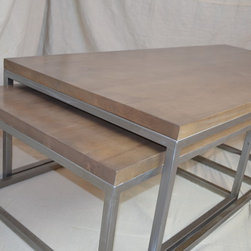 Metal Tree Furniture - Nesting Tables - This nesting table set is made from alder and finished in a modern tone. Long lasting quality and style!