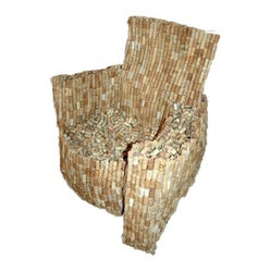 ecofirstart.com - Loose Cork Armchair, Limited Edition 2/5 - Your old armchair will be toast when you drink this one in. It's crafted of recycled wine corks in a traditional shape that's both generously sized and comfortable. You'll spend many happy hours in this seat, and get a great conversation piece to boot.