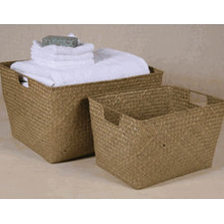 Rectangle Open Top Basket - These are perfect for for keeping storage shelves nice and tidy. They also nest, so you can easily store them when not in use.
