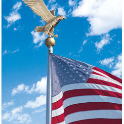 Whitehall Products LLC - Large Flagpole Eagle - Gold Bronze - • Color: Gold Bronze