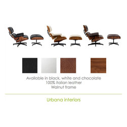 Eames Lounge leather reproduction - Inspired in the Eames Lounge Chair and ottoman by Charles and Ray Eames.