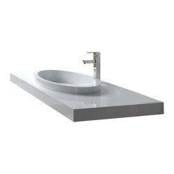 Matte White Wall Hung Stone Resin Sink