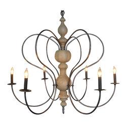 NOIR - NOIR Furniture - Fountain Chandelier in Metal - LAMP346 - UL Listed