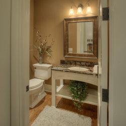 Custom Cabinets - Custom Powder Open Concept Bath Vanity