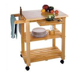 Winsome - Basics Kitchen Cart - The Basics kitchen cart adds storage ...