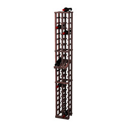 Wine Cellar Innovations - Traditional Series 40 Individual Bottle Rack w/display - The Redwood & Pine 2 Column Individual Bottle wine rack with display row is 20 rows high and stores 40 wine bottles with 2 bottles on top. Assembly required.
