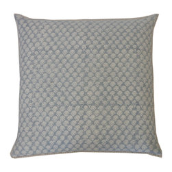 JITI - Mini Poppy Springs Smokey Blue Pillow - Delicate poppy pattern on a perfect little pillow? Yes, please! You'll love the the sweet spell this piece will cast in your space. But you might love its soft cotton shell and feather/down insert even more.