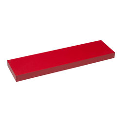 4D Concepts - 4D Concepts Magnetic Shelves 2 pack in Red - Choose between blue, red, and pink.  The units come with a PVC durable laminate that is easy to clean  with just a damp cloth.  The shelf is embedded with a metal                                                                                                                         strip so the magnetic knobs will attach to the long edge of the shelf.  This uniquely designed shelf is great for any room in the house of garage.   Units comes ready to assemble.