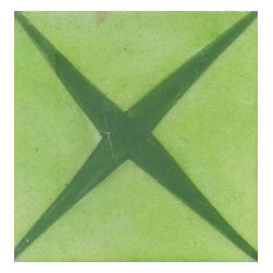 """Knobco - Tiles 3X3""""Inch, Green And Lime Green - Green and Lime Green Tiles from Jaipur, India. Unique, hand painted tiles for your kitchen or other tiling project. Tile is 3x3"""" in size."""