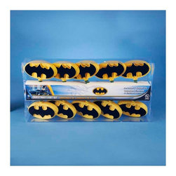 """Lamps Plus - Kids Ten Batman Party String Lights - Add a little fun to your indoor spaces with this set of ten string lights featuring the Batman logo against a yellow background. Perfect for entertaining or as an eye-catching accent in bedrooms and more these lights add personality and cheer. Includes four spare bulbs and green wire. Batman string lights. 10-light string. For indoor use only. Includes ten 12v .08A clear incandescent bulbs. Includes 4 spare bulbs and 2 fuses. Includes 30"""" of green lead wire. 12"""" of spacing between lights.   Batman string lights.  10-light string.  For indoor use only.  Includes ten 12v .08A clear incandescent bulbs.  Includes 4 spare bulbs and 2 fuses.  Includes 30"""" of green lead wire.  12"""" of spacing between lights."""