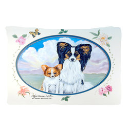 Caroline's Treasures - Papillon Fabric Standard Pillowcase Moisture Wicking Material - Standard White on back with artwork on the front of the pillowcase, 20.5 in w x 30 in. Nice jersy knit Moisture wicking material that wicks the moisture away from the head like a sports fabric (similar to Nike or Under Armour), breathable performance fabric makes for a nice sleeping experience and shows quality.  Wash cold and dry medium.  Fabric even gets softer as you wash it.  No ironing required.