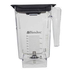 Blendtec - Blendtec 40-615-50 96-oz Jar with 4-inch Blade - This Blendtec 96-ounce jar is now approved for home use on all 13-amp Blendtec residential blenders. This 3-quart, BPA-free large-capacity jar comes with a 4-inch blade and easy-open vented gripper lid.