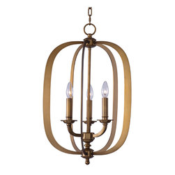 Maxim Lighting - Maxim Lighting 22372NAB Fairmont Natural Aged Brass Pendant - 3 Bulbs, Bulb Type: 60 Watt Incandescent