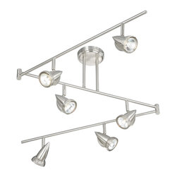 Vaxcel - Spotlight Satin Nickel 12 Inch Spot Light - Dimensions: 72 in. W x 5.5 in. L x 12 in. H.